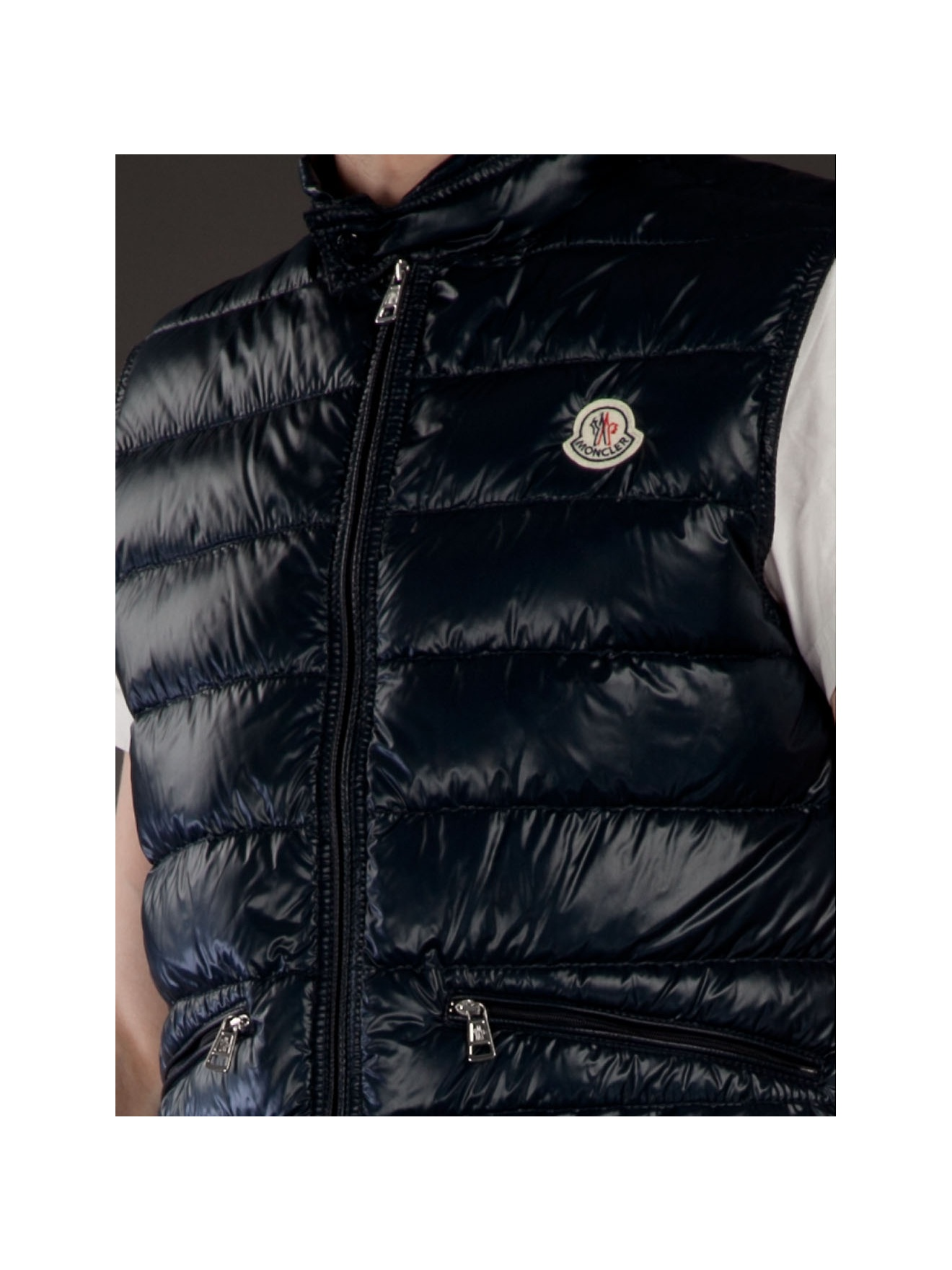 Lyst Moncler Quilted Body Warmer In Blue For Men