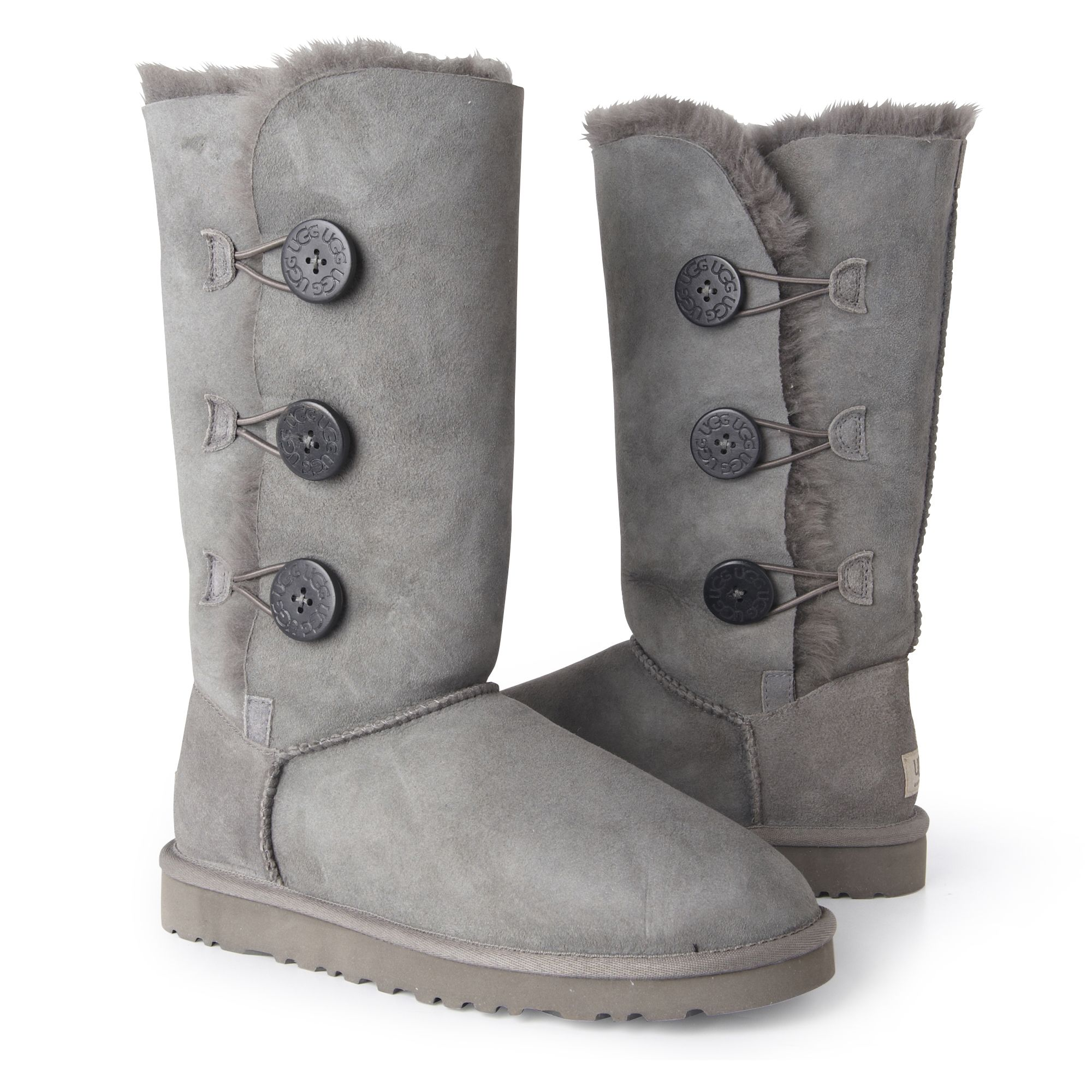 af9c4e8025e UGG Gray Bailey Button Triple Boots Grey