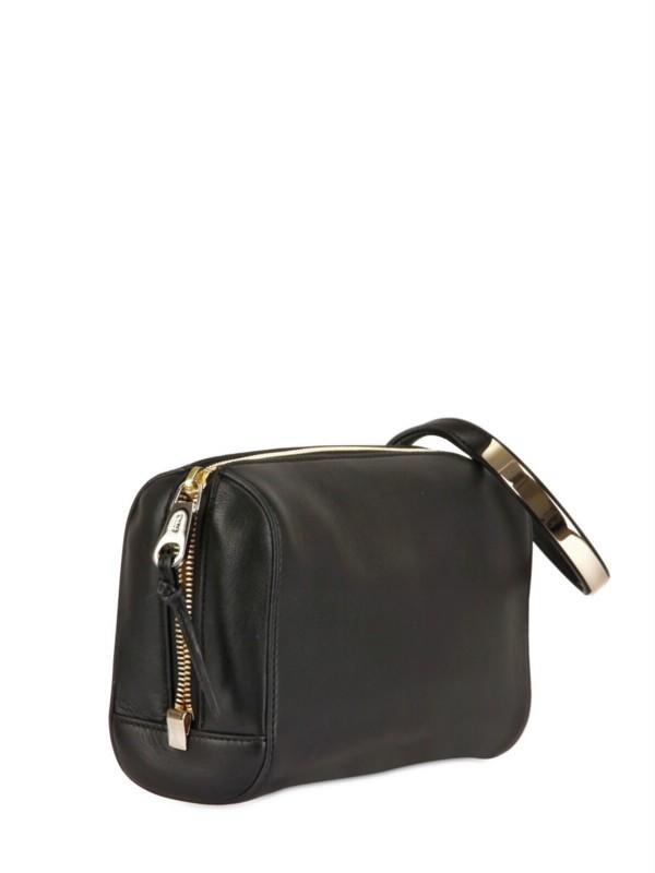 Chlo�� Leather Wristlet Bag in Black | Lyst