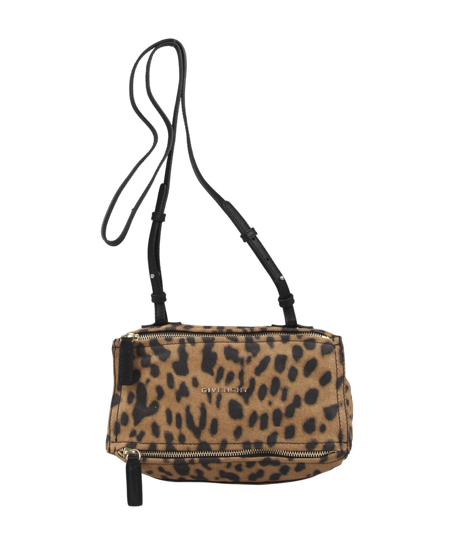 8241249db7 Lyst - Givenchy Mini Leopard Print Pandora Bag