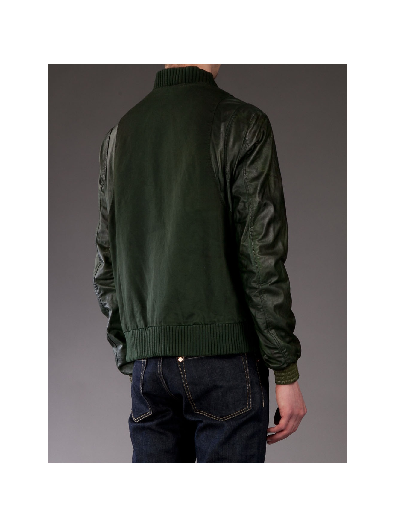 Balmain Bomber Jacket in Grey (Grey) for Men