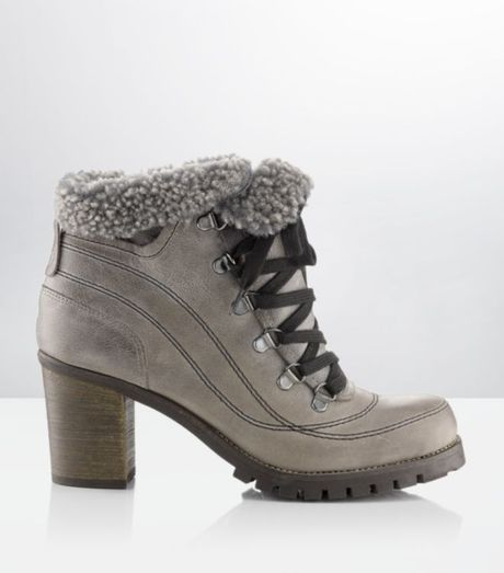 Carvela Kurt Geiger Shelly Faux Fur Hiking Boot In Gray
