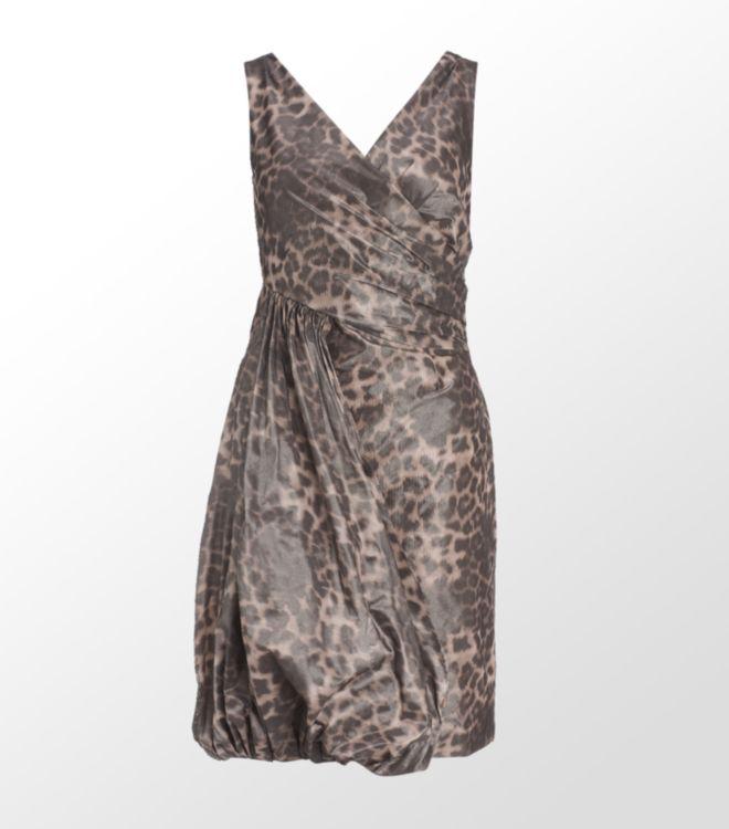 6d6b66a12598 Boutique Moschino Leopard Print Taffeta Dress - Lyst