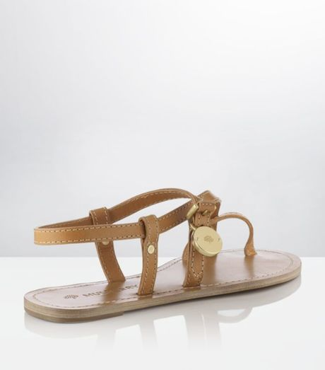 Mulberry Bayswater Flat Sandal In Brown Tan Lyst