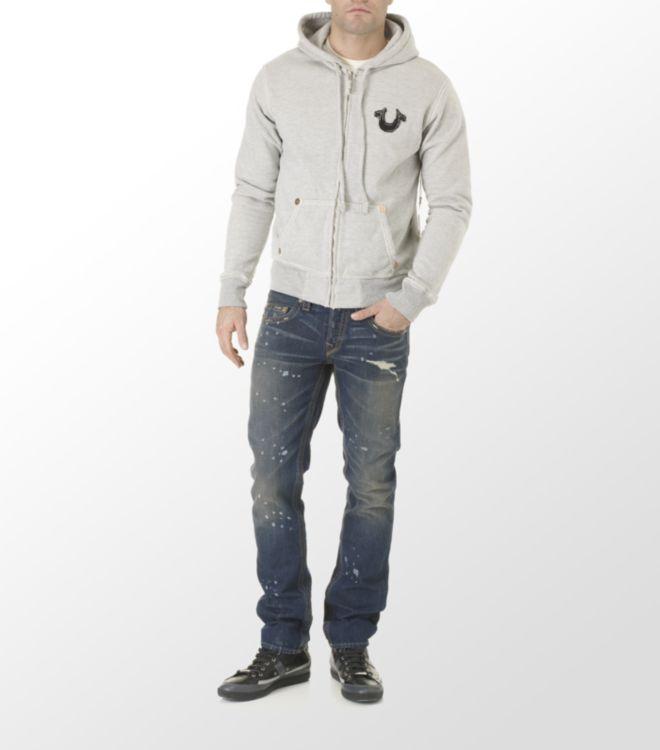 True Religion Rocco Paint Splat Slim Fit Jeans in Blue for Men