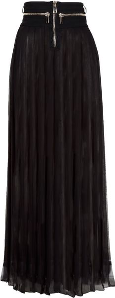 Givenchy Pleated Maxi Skirt in Black