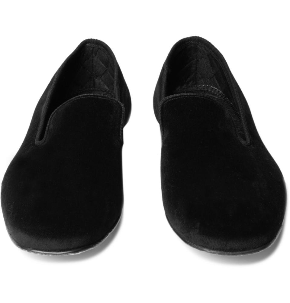 Brooks Brothers Velvet Slippers in