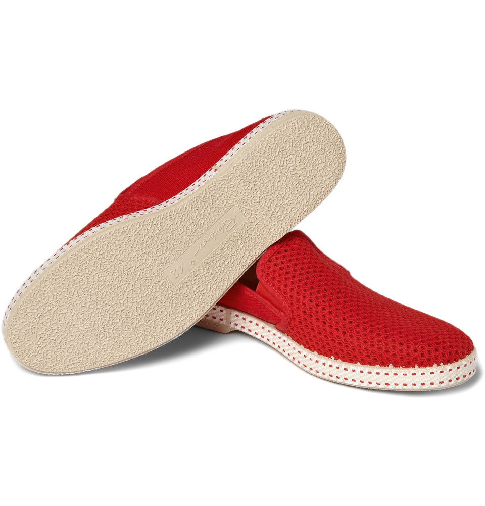 rivieras mesh slip on shoes in for lyst