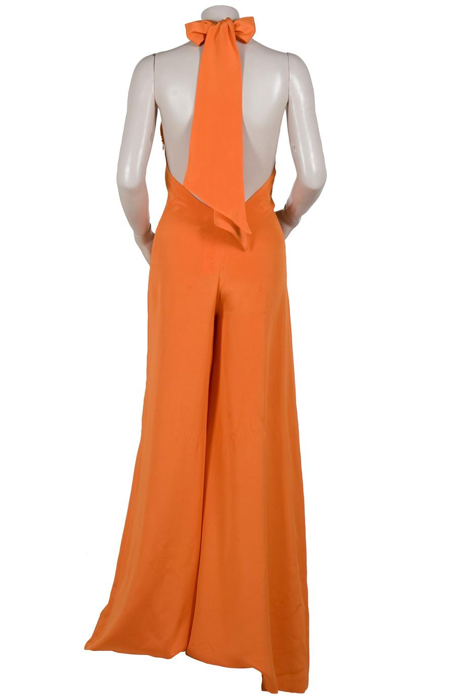 c7552c1fc9 Lyst - Paul   Joe Halter Wide Leg Jumpsuit in Orange