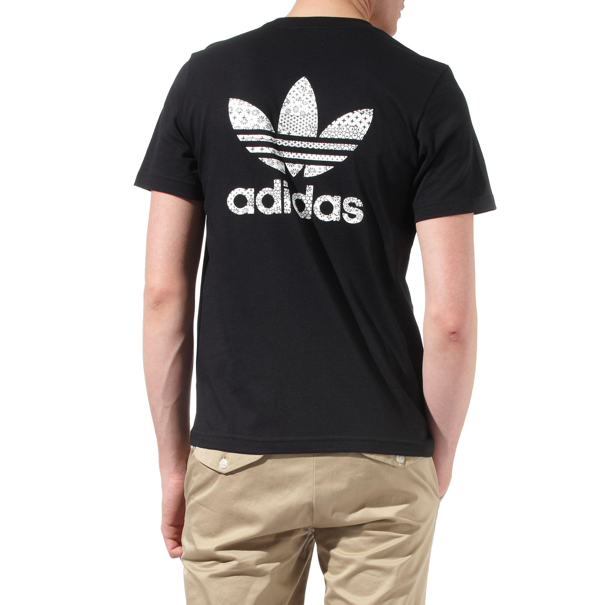 Lyst Adidas Kimono Logo Back T Shirt In Black For Men