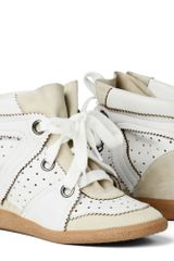 Isabel Marant Betty Leather and Suede Sneakers