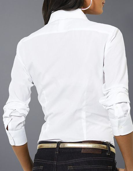 cf65be66988124 ... authentic lauren by ralph lauren petites mandell long sleeved ruffled  blouse in white lyst fa77d 02f60