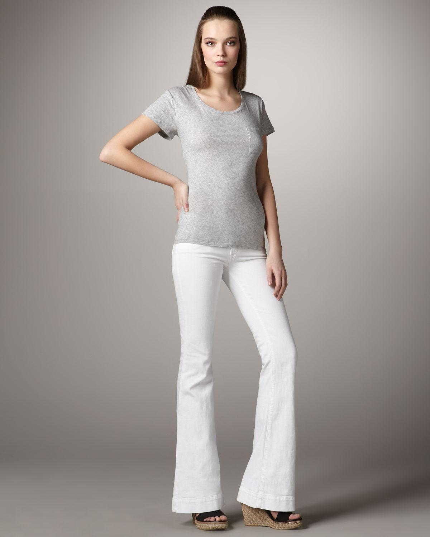 J brand Lovestory Aspen Jeans in White | Lyst