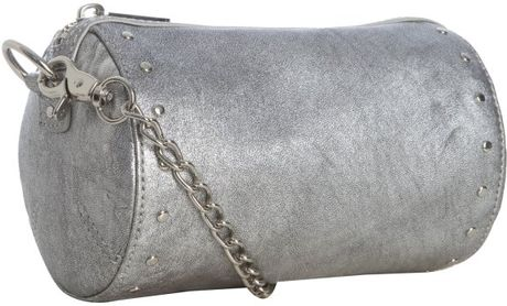 Botkier Silver Leather Night Out Crossbody Clutch in Silver (argento)