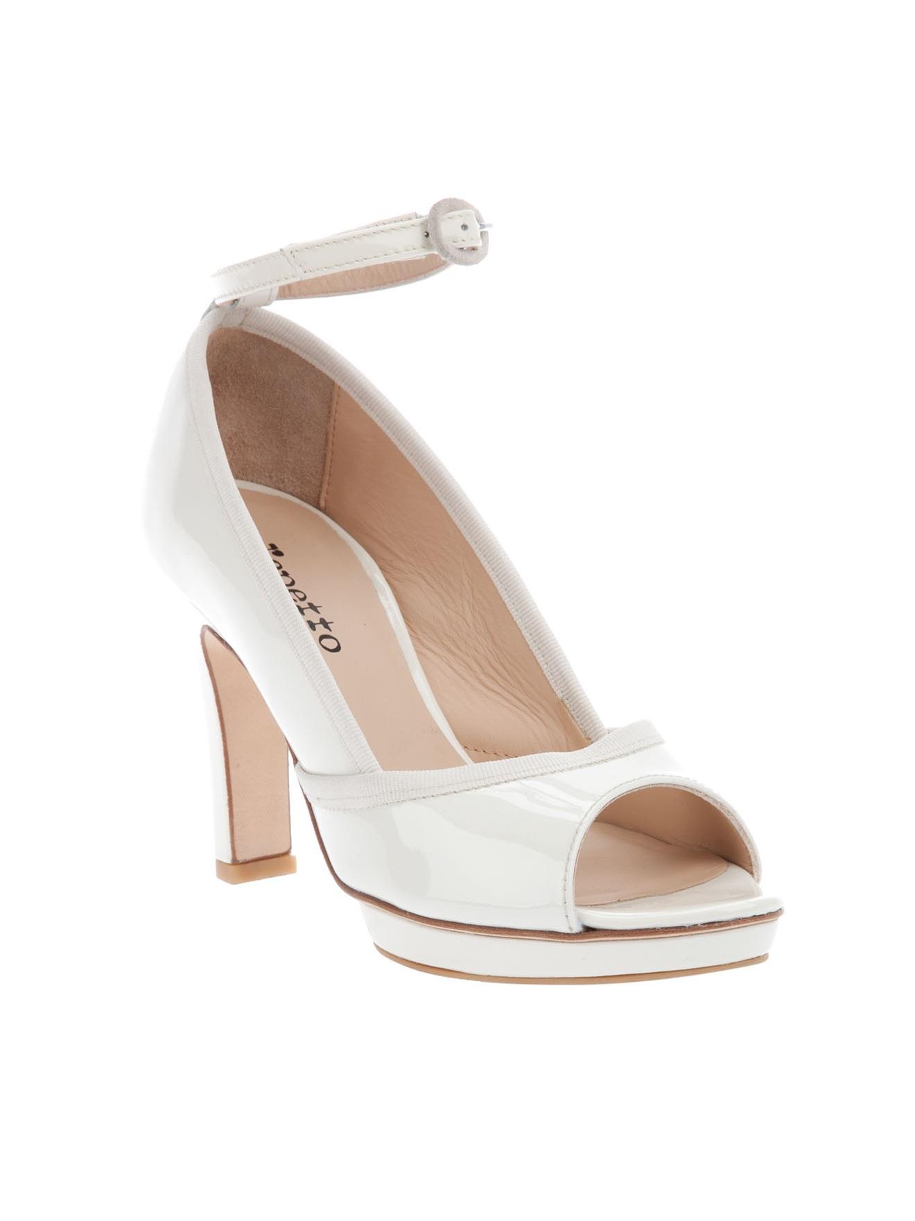 repetto open toe shoe in white lyst