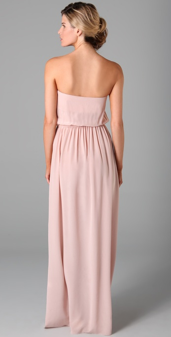 Zimmermann maxi dress strapless