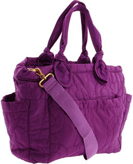 Marc By Marc Jacobs Pretty Nylon Eliza Baby Bag in Purple (plum)