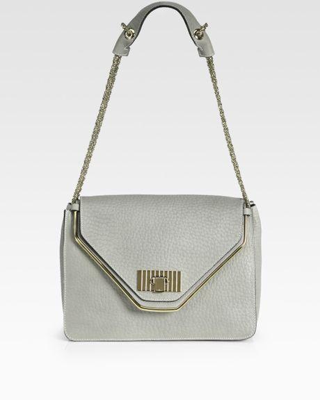 Chloé Sally Medium Shoulder Bag in Gray (CLOUD)