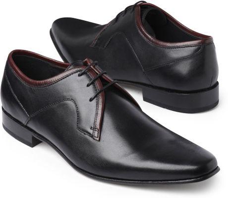 kg by kurt geiger vale leather formal shoe in black for
