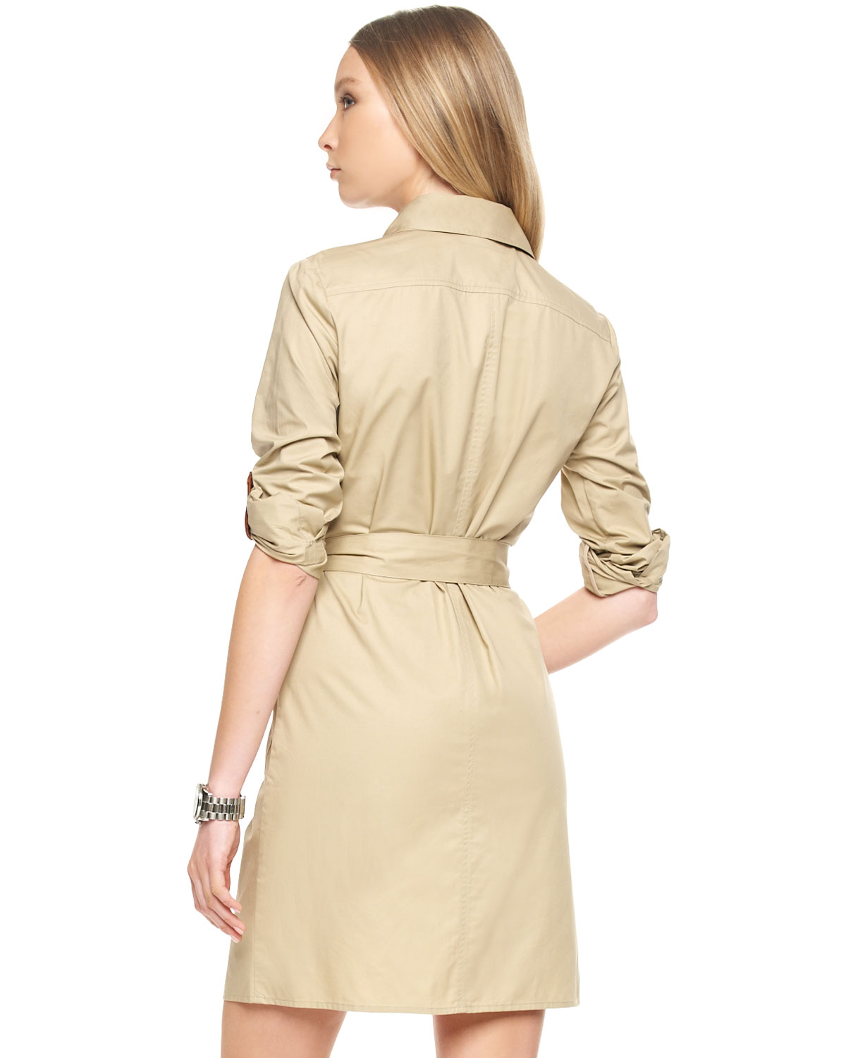Lyst Michael Kors Michael Casual Belted Safari Dress In