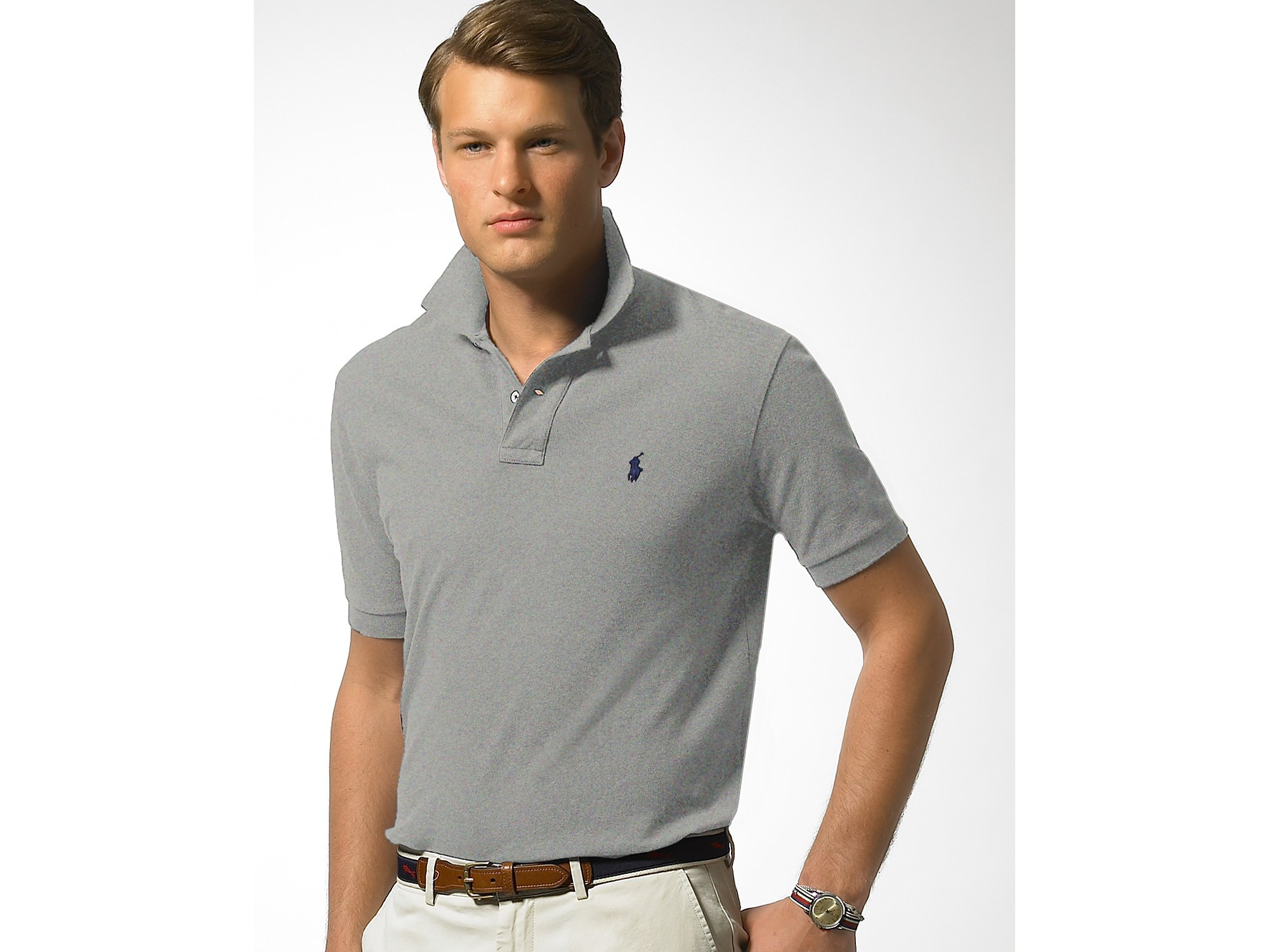 Lyst - Polo ralph lauren Classic Fit Short Sleeved Cotton ...