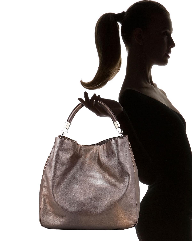 yves st laurent bags - yves saint laurent metallic leather roady hobo, yves saint lauren ...