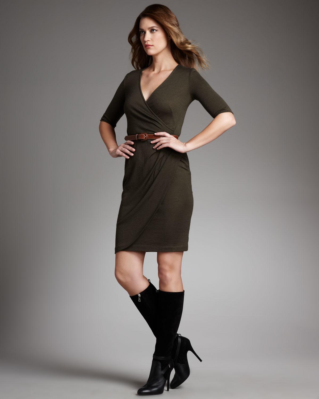 Ginia Cashmere Gowns Wrap Gown: Ralph Lauren Cashmere-silk Wrap Dress In Green