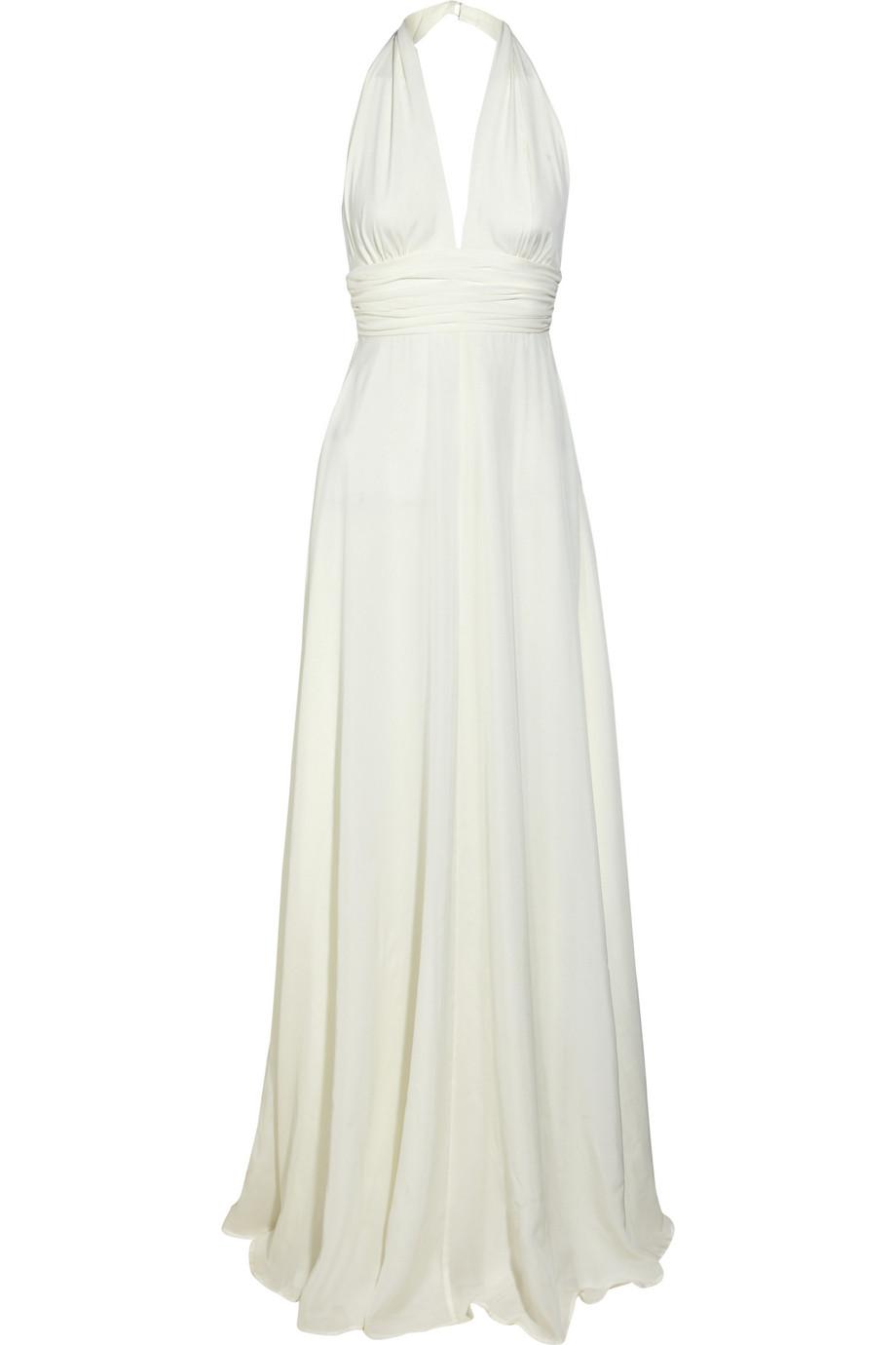 Silk Chiffon Halterneck Gown