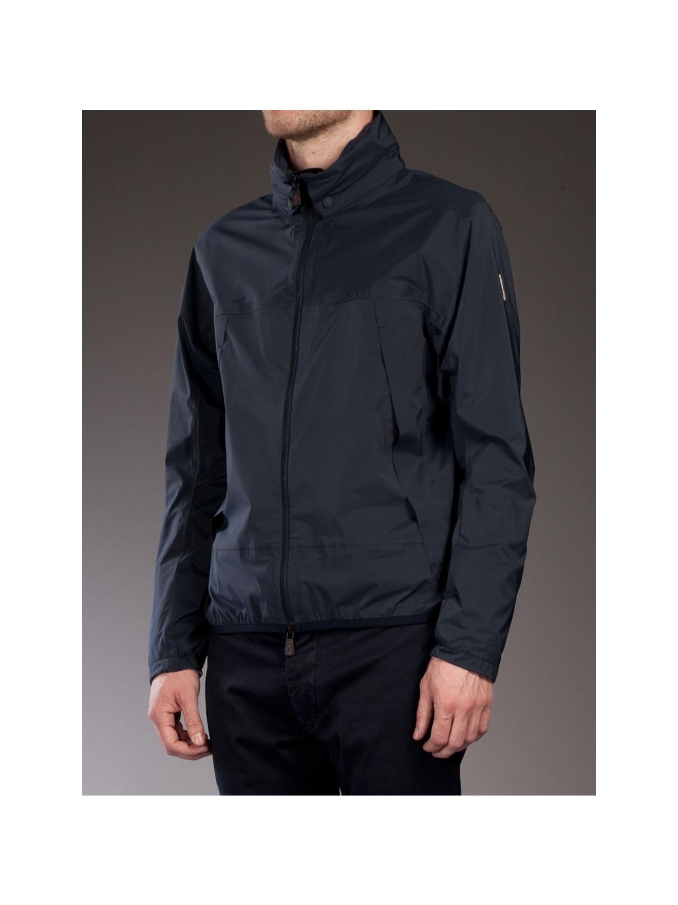 moncler grenoble waterproof jacket in blue for men lyst rh lyst co uk