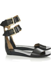 Michael Kors Vachetta Flat Leather Sandals - Lyst