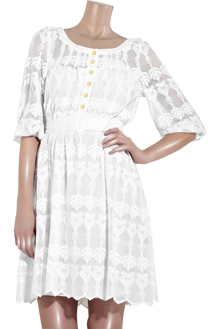 Lyst Alice By Temperley Flora Cotton Lace Dress In White