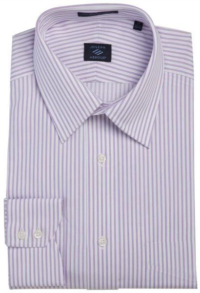 Joseph Abboud Pin And Bar Stripe Point Collar Dress Shirt