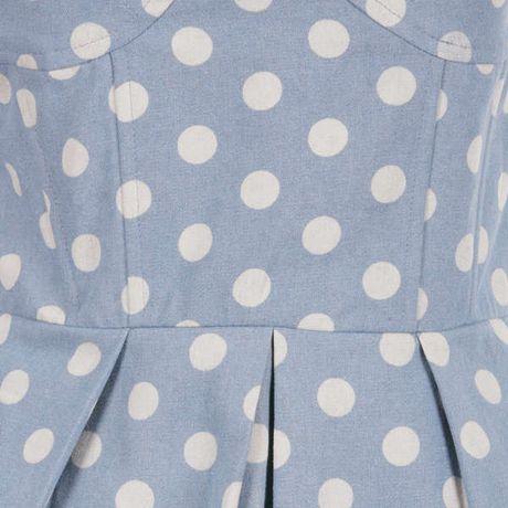 Aryn K. Aryn K Womens Polka Dot Strapless Dress - Blue Multi in Blue