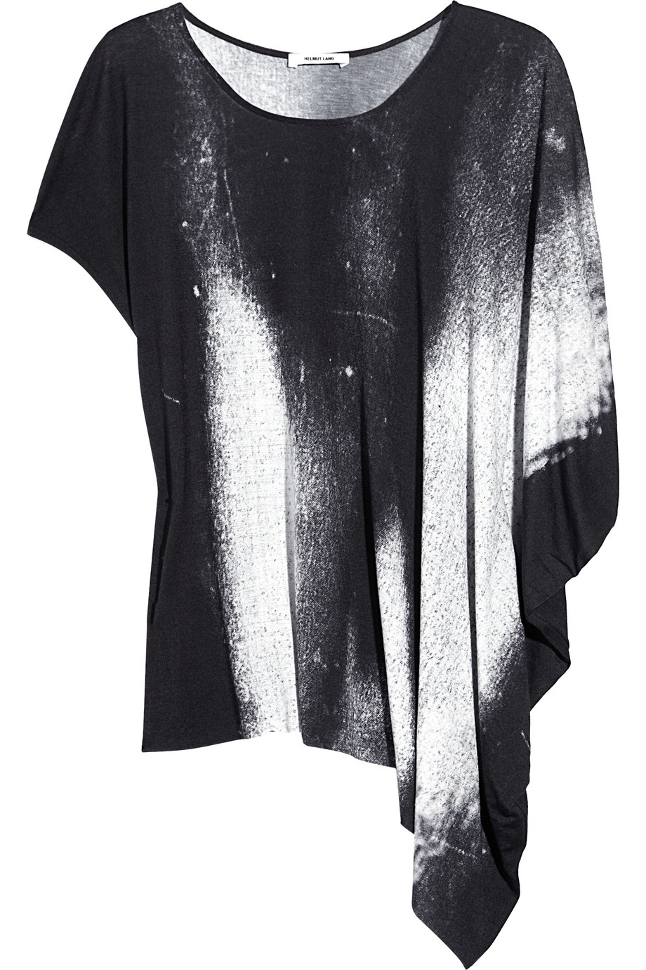 helmut lang oversized printed jersey t shirt in gray lyst. Black Bedroom Furniture Sets. Home Design Ideas