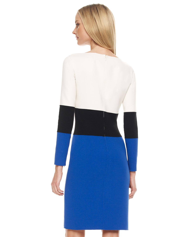 Lyst Michael Kors Colorblock Dress In Blue