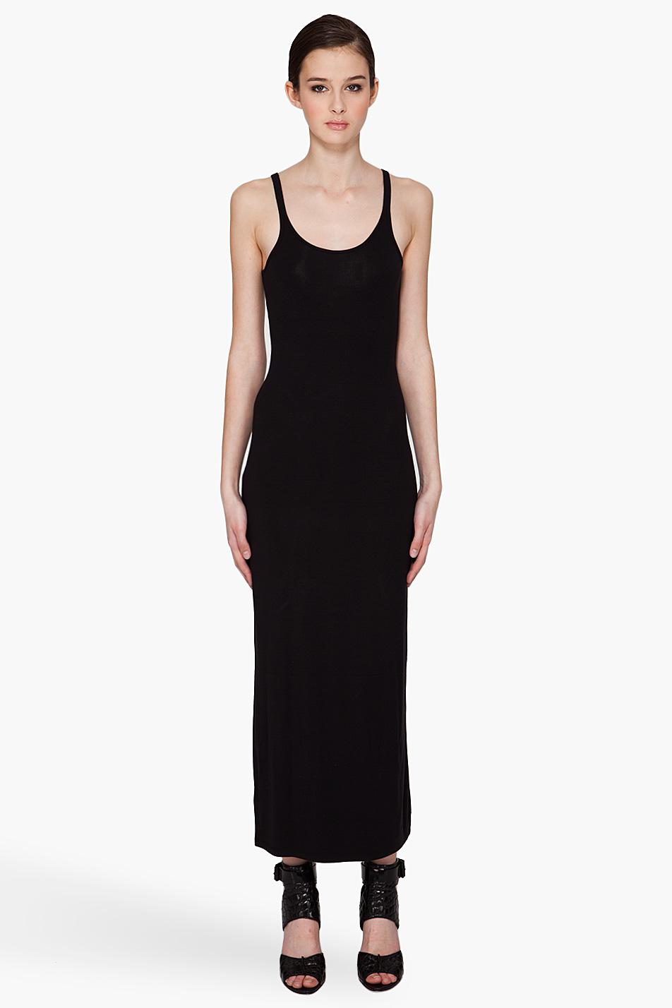 Lyst T By Alexander Wang Cami Tank Maxi Dress In Black