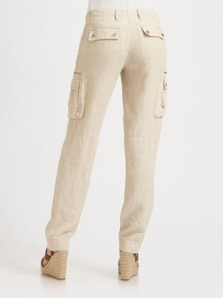 Alki'i Women's Casual Linen Cargo Jogger Pants with Comfort Waist by Alki'i. $ $ 25 00 Prime. FREE Shipping on eligible orders. Some sizes/colors are Prime eligible. Product Features 55% Linen, 25% Rayon, 20% Tetron. Soft hand feel keeps you cool in warm.