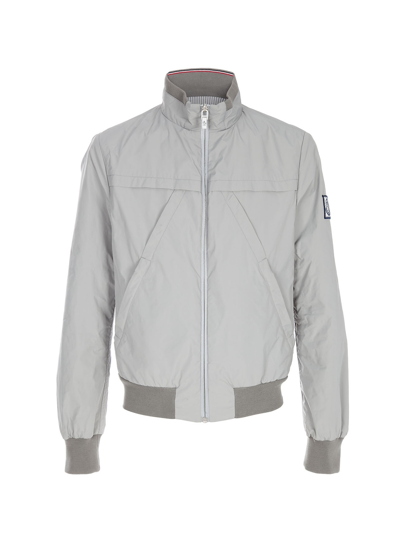 moncler grey bomber jacket