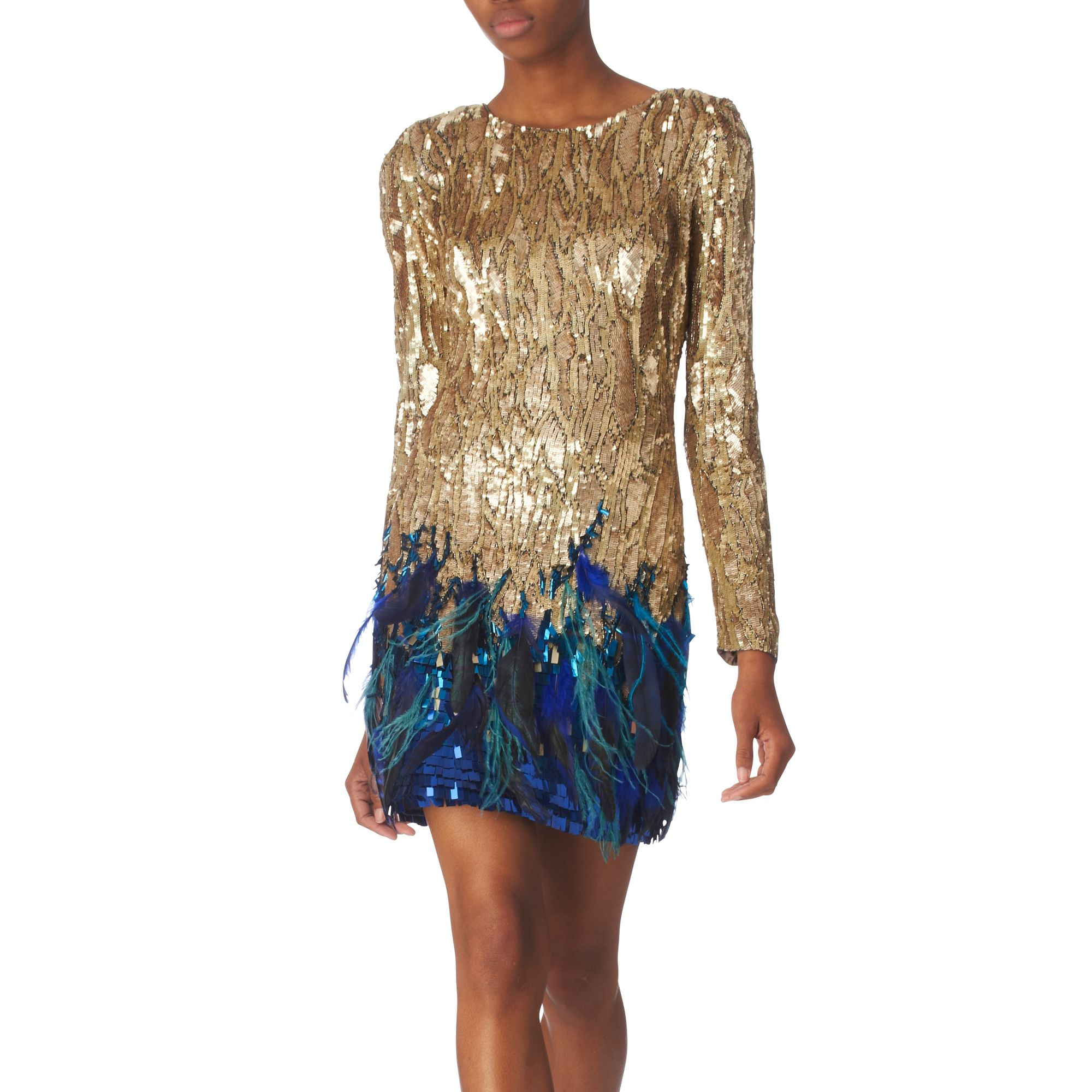 Sequin And Feather Dress