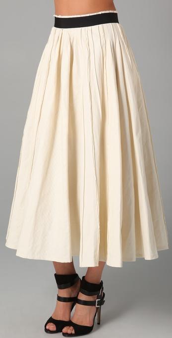 Lyst Plein Sud Tea Length Skirt In White