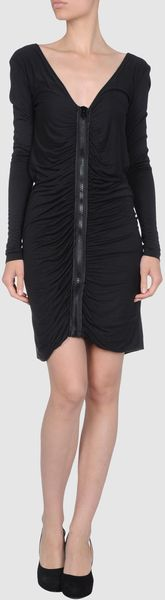 Gianfranco Ferré Short Scoop Neckline Dress in Black - Lyst