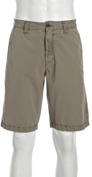 Tailor Vintage Khaki Cotton Walking Shorts in Green for