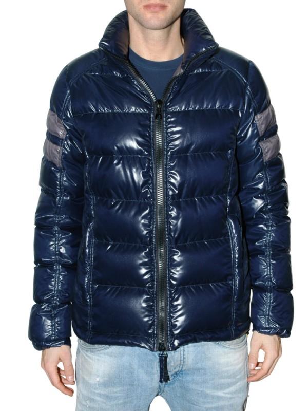Duvetica Fantasio Shiny Nylon Down Jacket in Navy (Blue