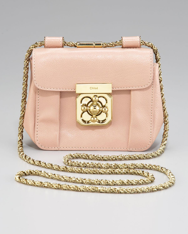 f0a107afb29 Lyst - Chloé Elsie Mini Evening Bag in Pink