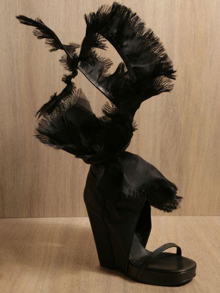 Rick Owens Womens Scarpa Sandals in Black