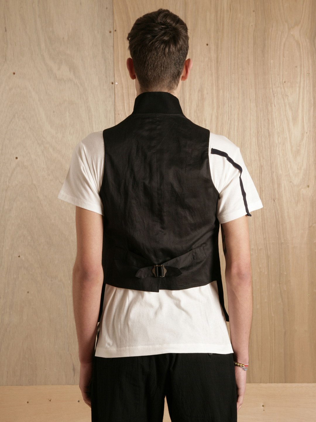 Yohji Yamamoto Stand Collar Vest in Black for Men