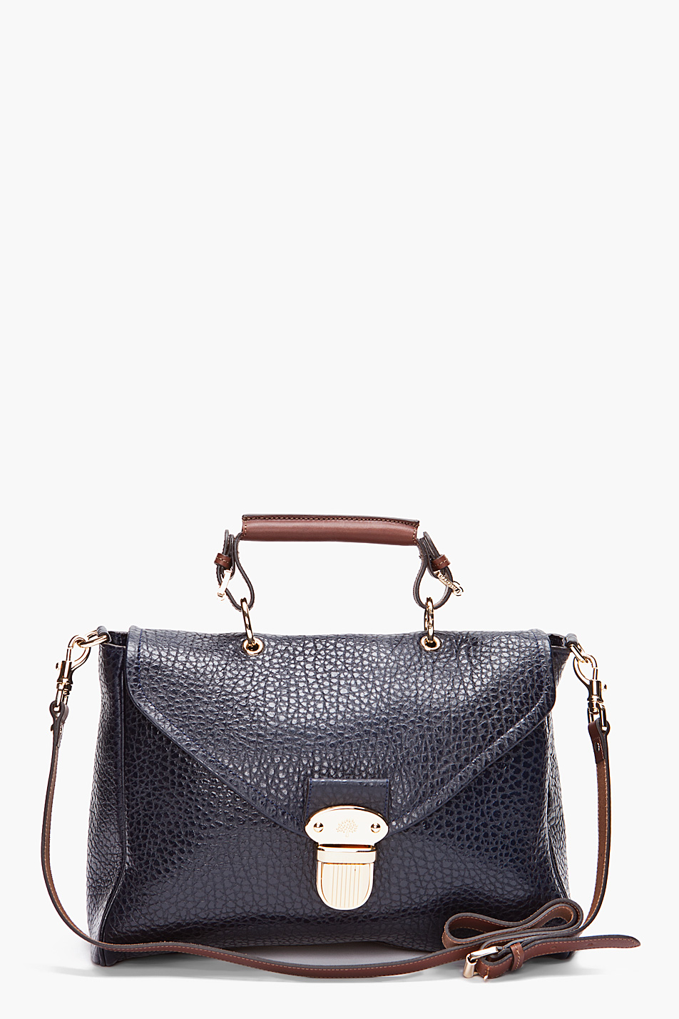 03916fbef1 ... shop lyst mulberry polly push lock tote in blue f3463 4d42d ...