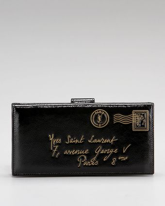 Yves Saint Laurent Mail Wallet - Lyst