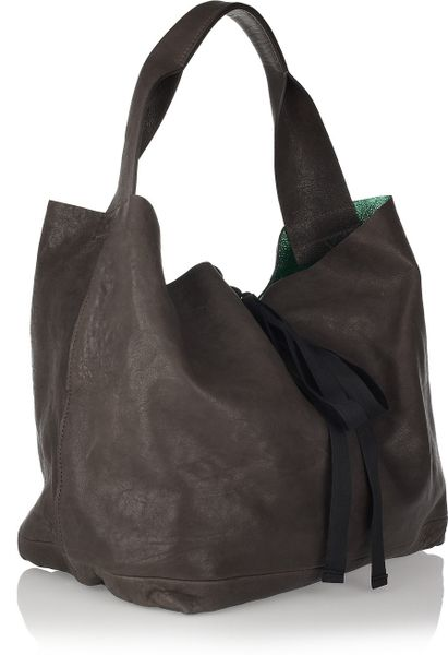 Marni Slouchy Leather Hobo Bag In Brown Lyst