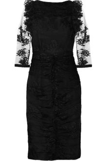 Burberry Prorsum Lace and Silk Dress - Lyst